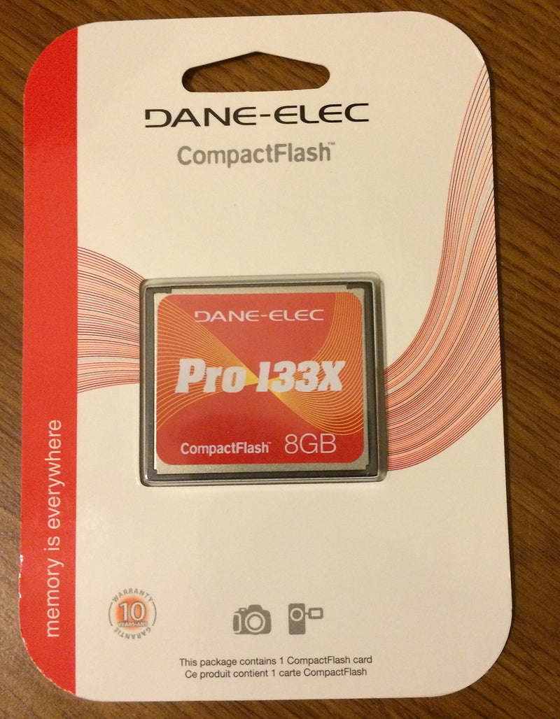 Dane-elec Pro-133x 8gb Compactflash Cf Card