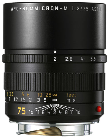 Leica 75mm f/2 Summicron-M Aspherical Manual Focus Lens for M System (11637)
