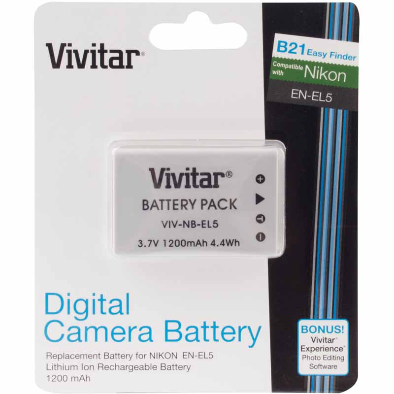 Vivitar Replacement Rechargeable Lithium Ion Battery for Nikon EN-EL5