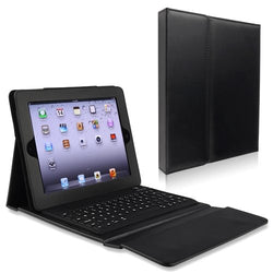 Camson Wireless Bluetooth Keyboard Leather Case and Stand for iPad 3, iPad 2 and New iPad