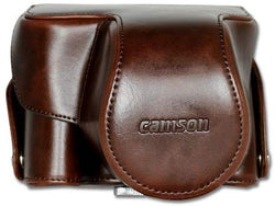 Camson Leather Case for Canon PowerShot SX70, SX60, SX50, SX40 (Brown)