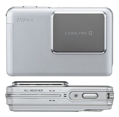 Mikon Coolpix S2 Ultra-Slim Waterproof Digital Camera - White