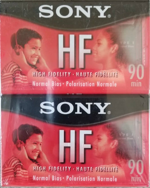 Sony HF C-90HFL 90 Minute Cassette Tape High Fidelity Normal Bias 2-Pack