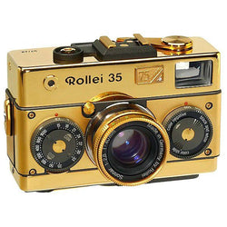 Rollei 35 Classic Gold 75th Anniversary Limited Edition with Sonnar 2,8/40mm Lens
