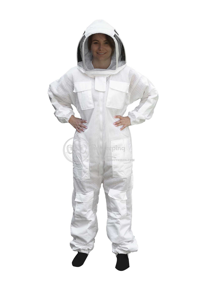 Size 6XL Beekeepers White Fencing Veil Suit