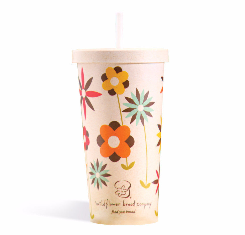 Wildflower Bamboo Tumbler