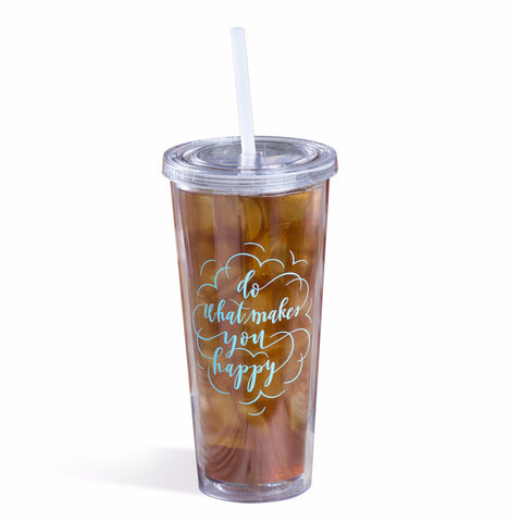 Wildflower Happy Tumbler