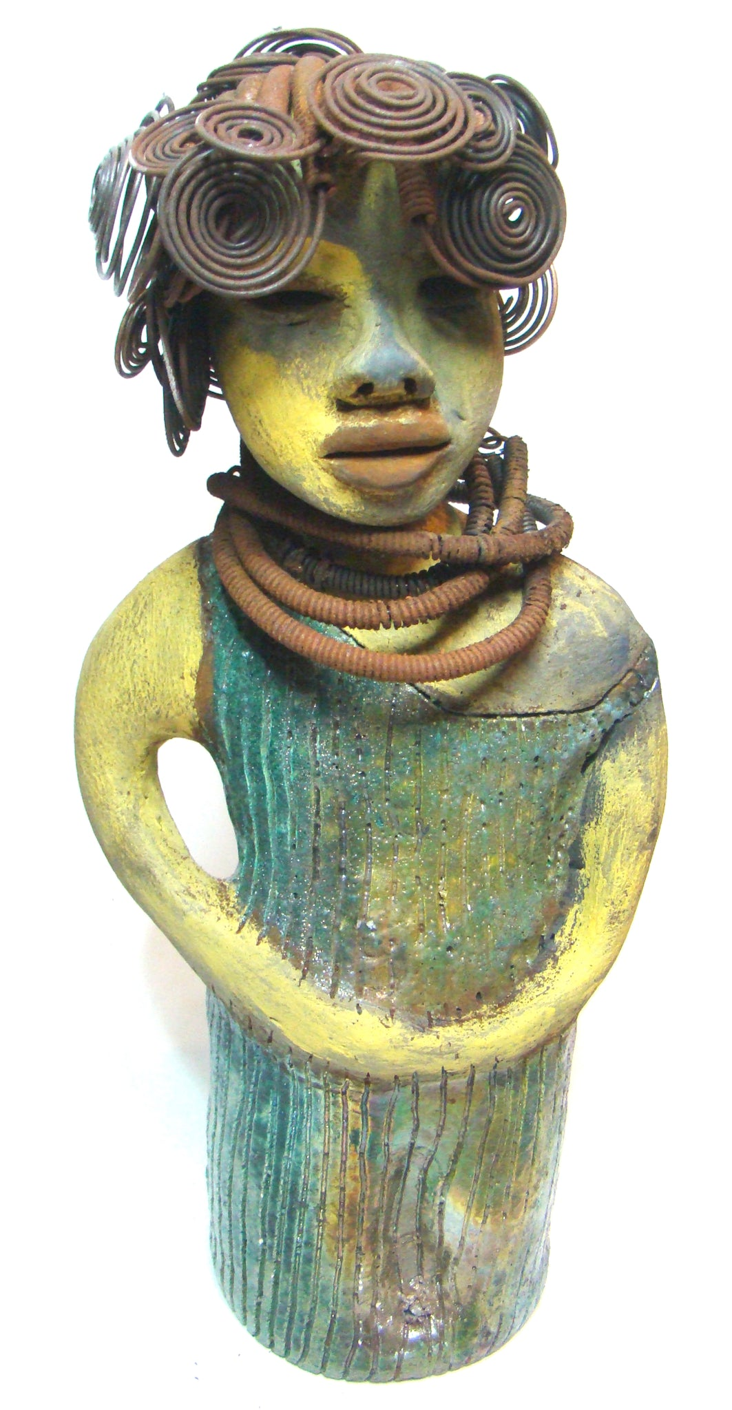 "Alaska stands 14"" x 5"" x 5 "". She has a multi colored honey,rust and pale green complexion.My name is Alaska!"
