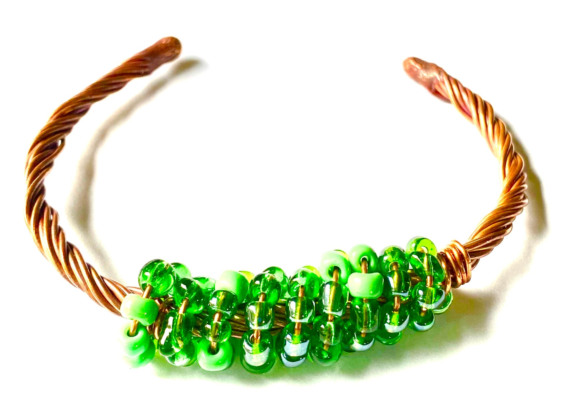 Copper Beaded Bracelet -10
