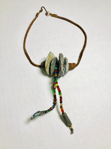 Raku Necklace 4 Disc