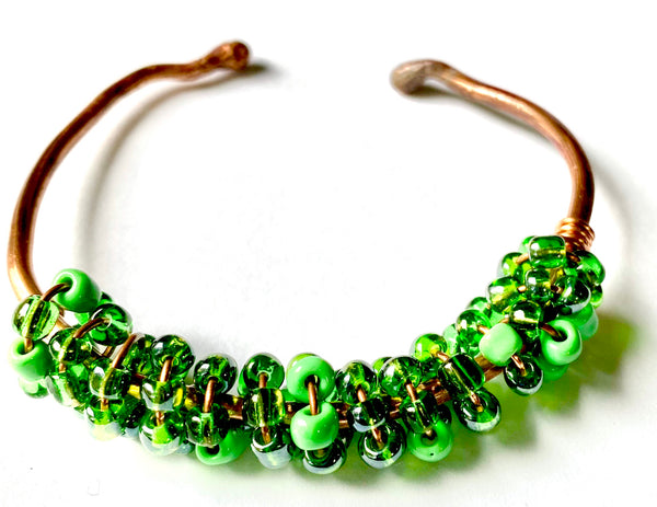 Copper Beaded Bracelet -8