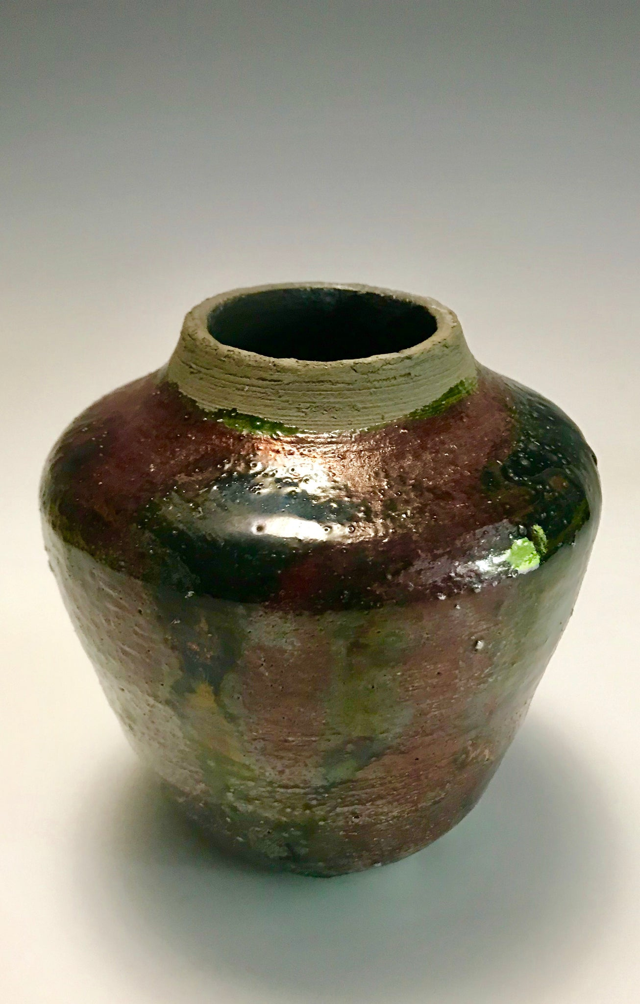 Multi Colored Raku Vase -1