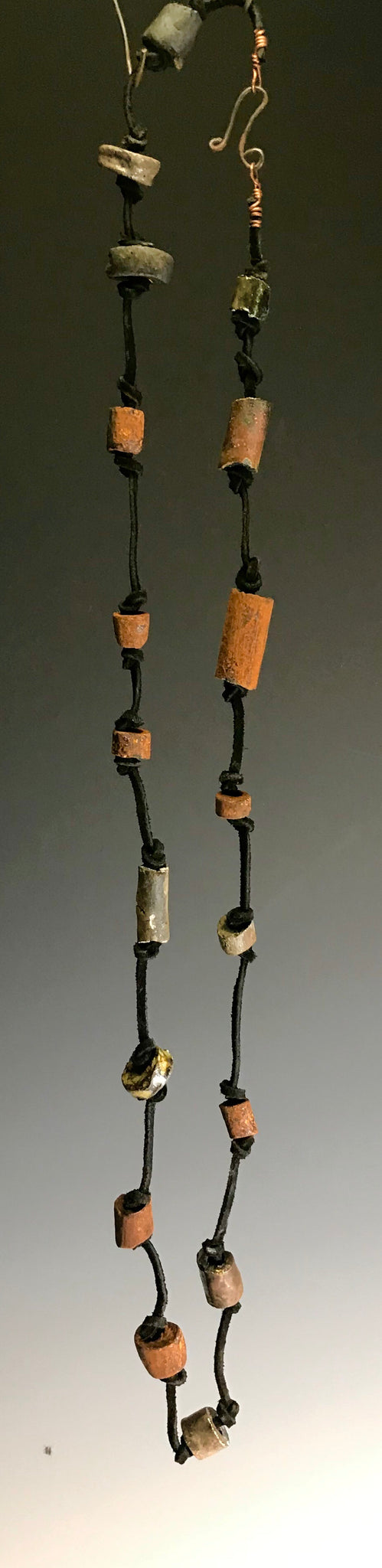 Long 18 Beaded Raku Necklace