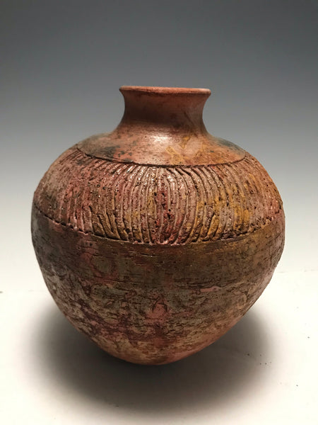 Earthy Sagger Fired Vase