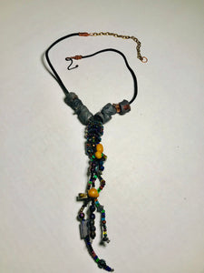 Tribal Raku Beaded Necklace