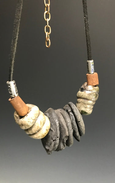 Raku Beaded Necklace-21