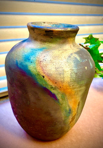 "Nice Copper Matte Pot  Matte Textured Earthy Copper Vase 6"" x 5"" x 5"" 1.7 lbs. Sit nice on any table furniture."
