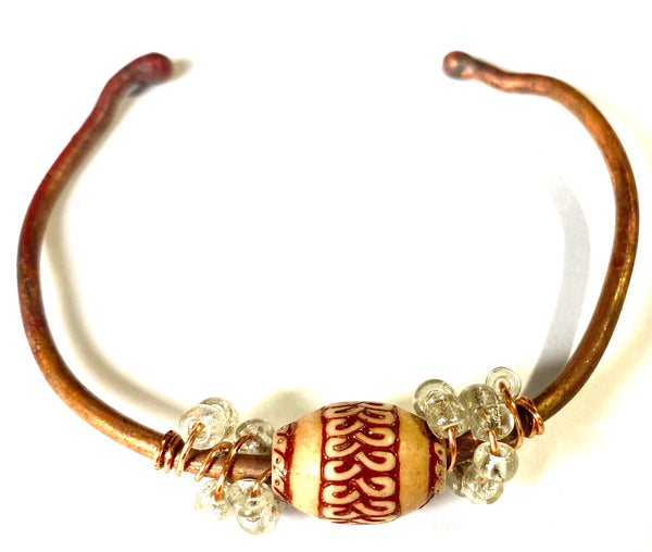Copper Beaded Bracelet -11