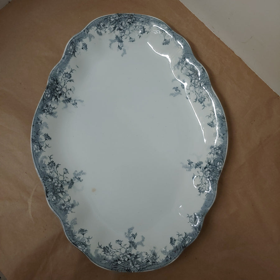Ironstone, blue transfer platter