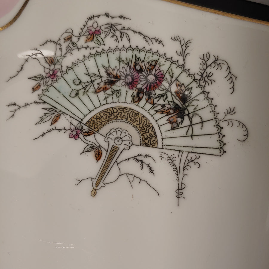 Fan, square plate, S.B & son