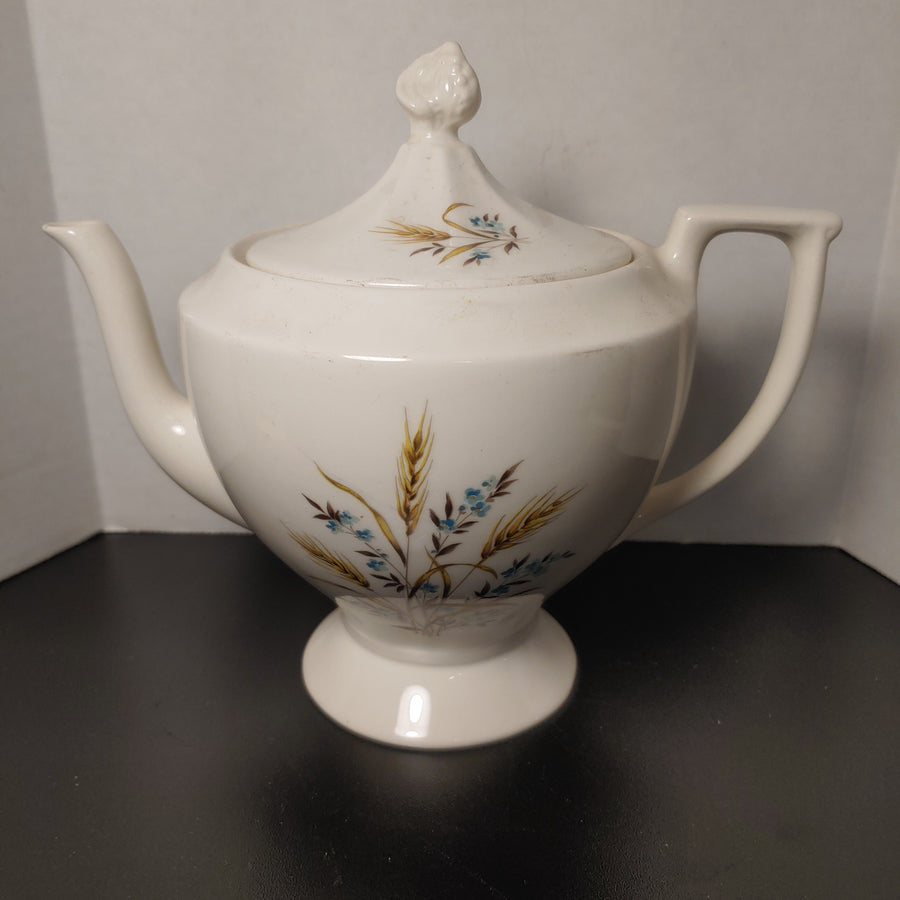 Wheat and flowers teapot
