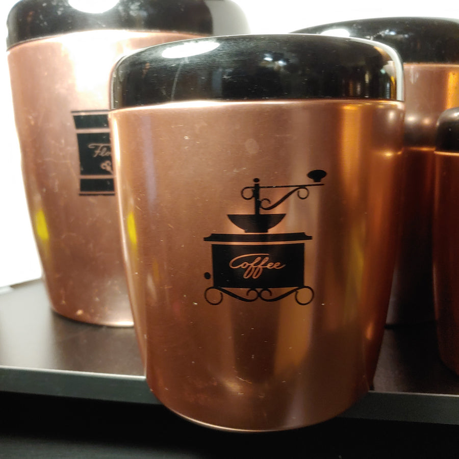West bend pink,copper canister set