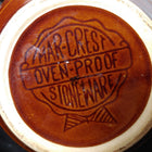 Mar.crest brown oven safe mixing bowl