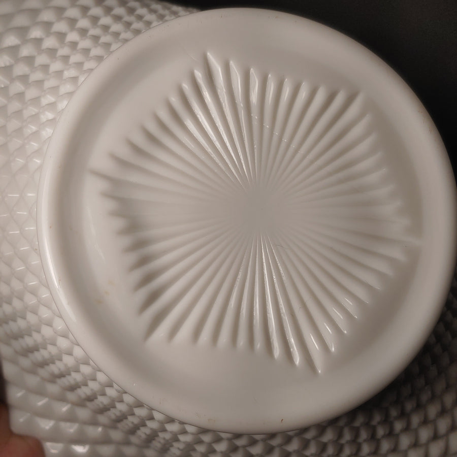 Milk glass diamond cut Bowl