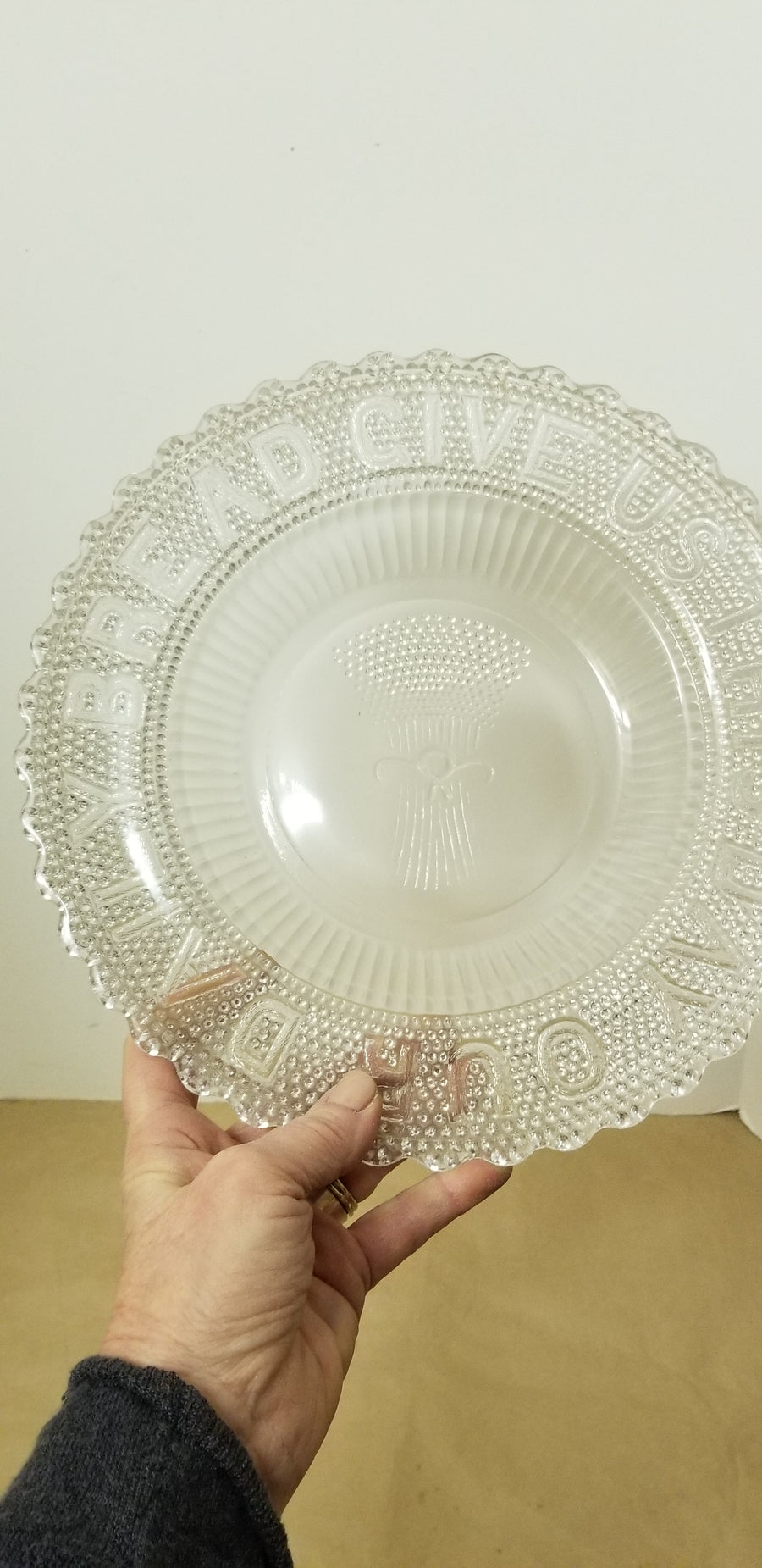 Pressed glass eapg bread plate
