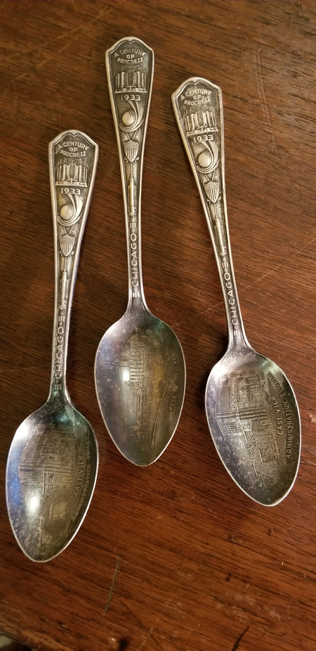 1933 world,s fair souvenir spoons, 3