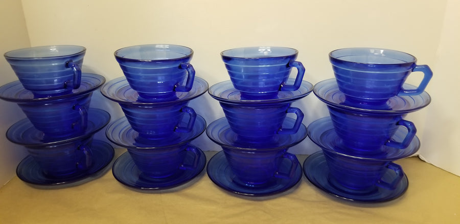 Moderntone cup and saucers, 12