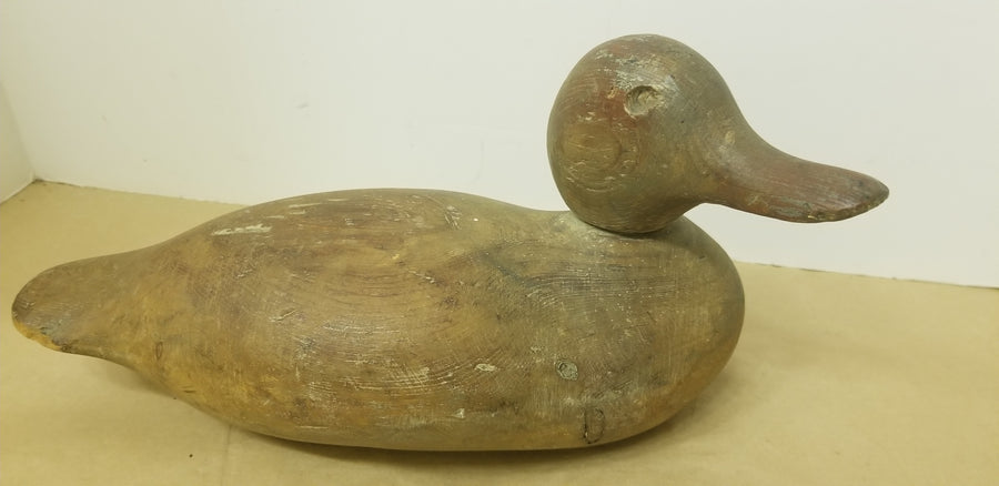 Duck decoy, 40's, wood, hand carved