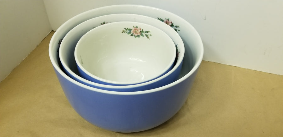 Hall rose parade 3 nesting bowls