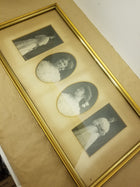 4 photos in frame, antique