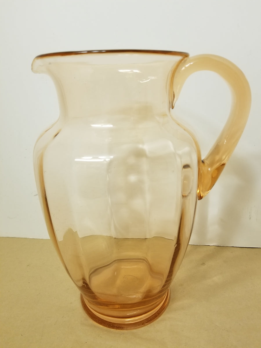 Pink depression glass lemonade pitcher