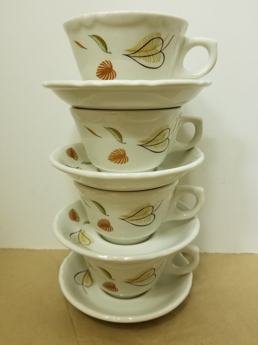 Sterling restaurantware 4 cups and saucers