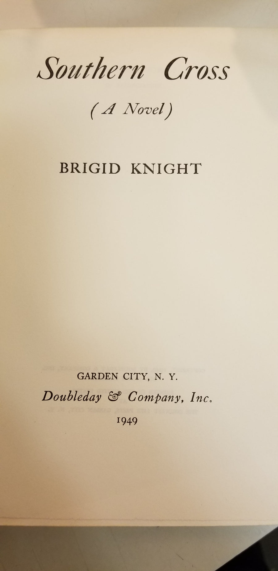 Southern cross by Brigid knight, book , 1949