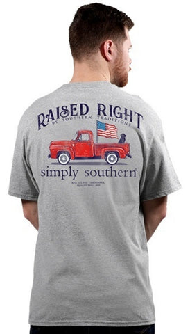 Simply Southern Mens Raised Right