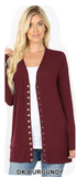 Long sleeve button front cardigan