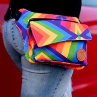 Rainbow Slash Hip Bag / Fanny Pack / Waist Pack
