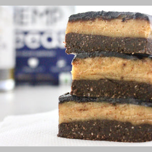 Raw Hemp Caramel Slice