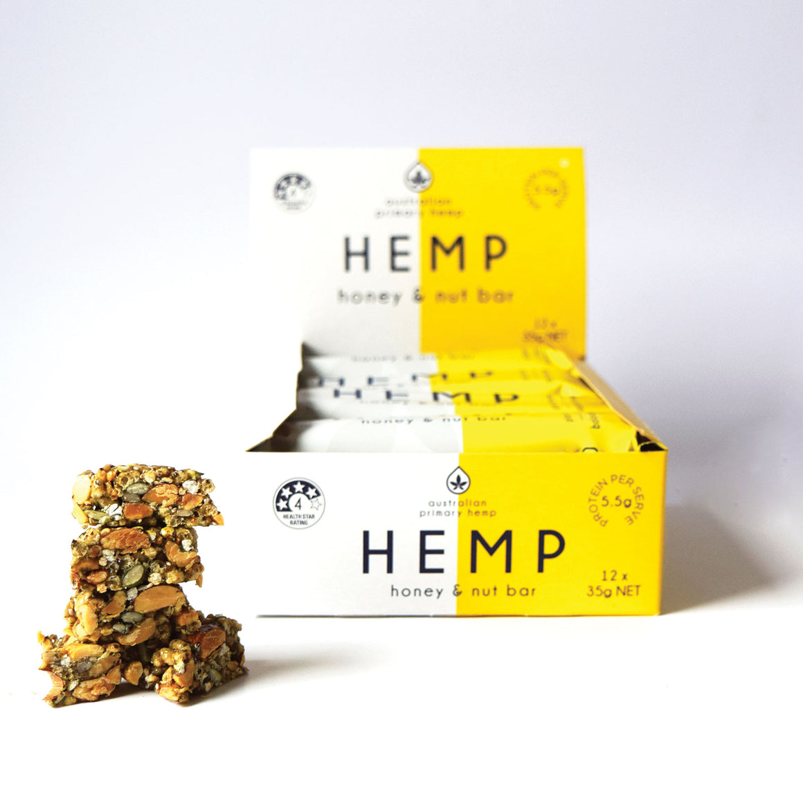 Hemp & Honey Nut Bar - 12 pack