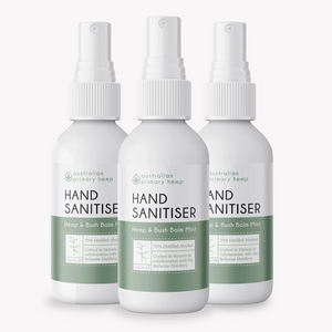 Hemp & Bush Balm Mint Hand Sanitisers - 3 Pack