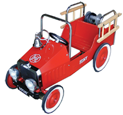 Red Johnco Fire Truck Pedal Car