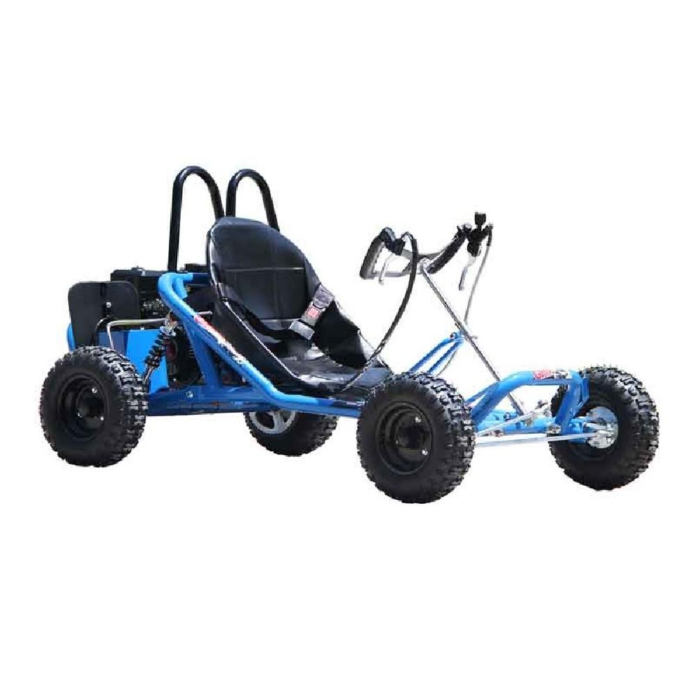 Kids Blue petrol powered go kart