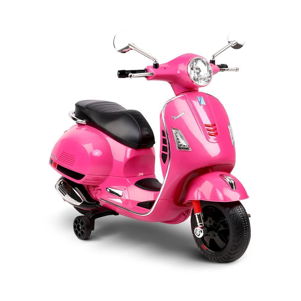 Pink kids electric scooter