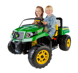 Twin seater john deere kids ride on car in green