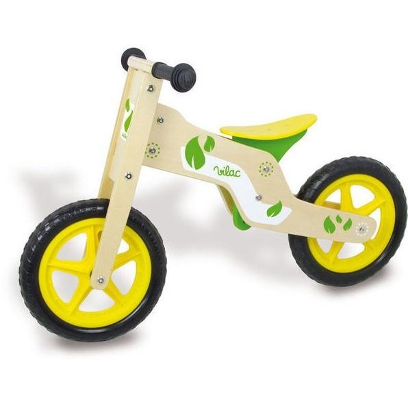 vilac timber green and yellow balance bike
