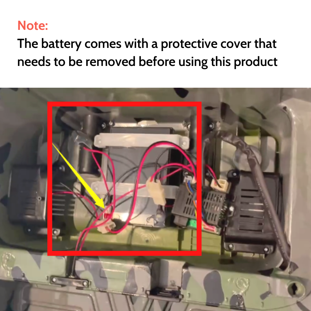 image of battery with protective cver