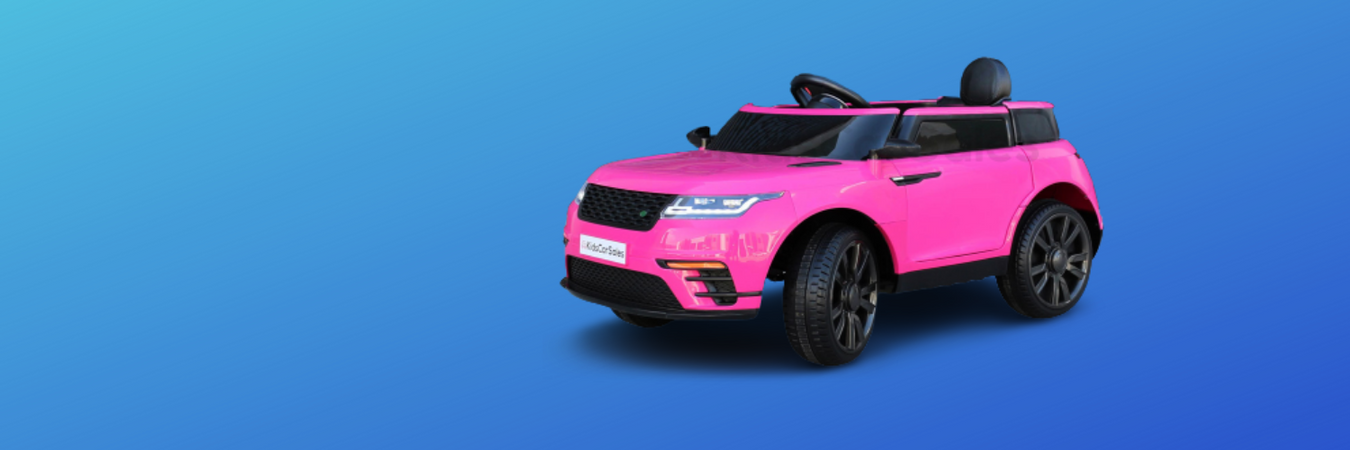 image of the pink range rover velar style kids ride on car
